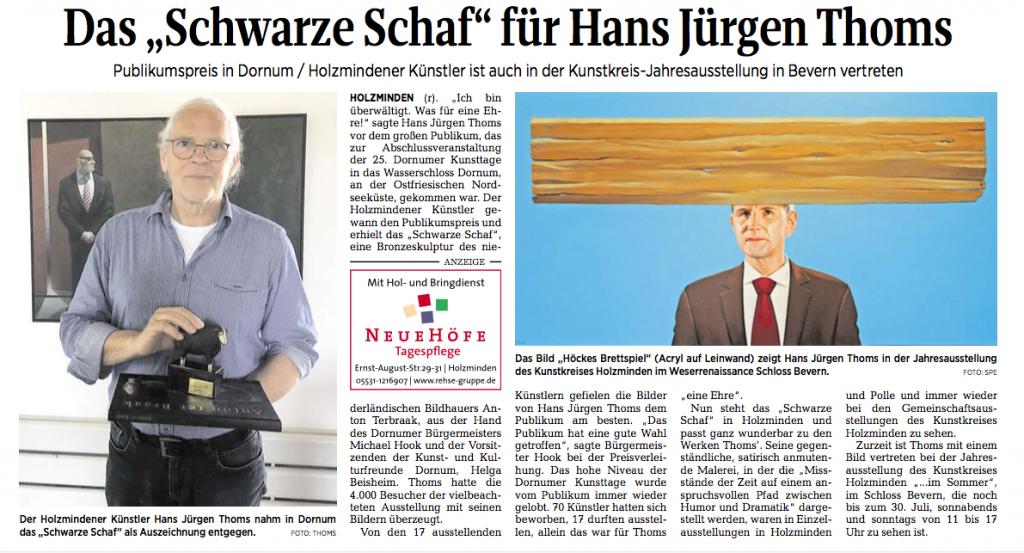 Künstler Malerei Hans Jürgen Thoms Art Täglicher Anzeiger Holzminden