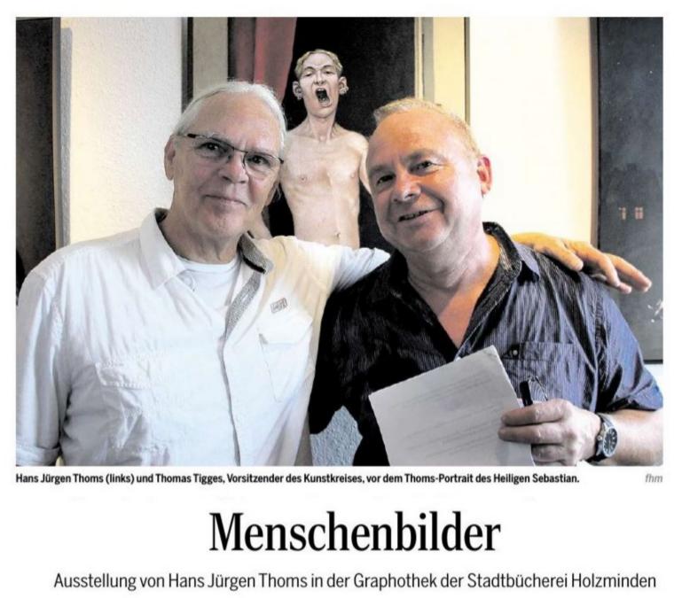 MenschenbilderKünstler Malerei Hans Jürgen Thoms Art