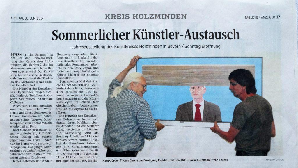 Anzeiger Holzminden Künstler Malerei Hans Juergen Thoms Art